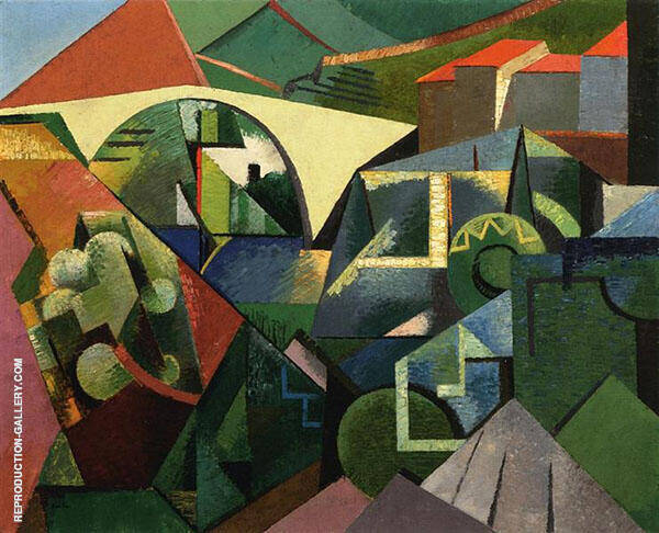 The Yellow Bridge at Ceret 1913 Painting By Auguste Herbin