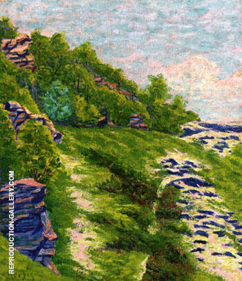 Wooded Coast a Roche Goyon 1906 By Auguste Herbin