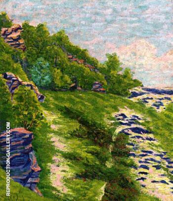 Wooded Coast a Roche Goyon 1906 By Auguste Herbin