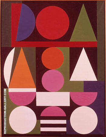 Naissance No 1 1958 Painting By Auguste Herbin - Reproduction Gallery