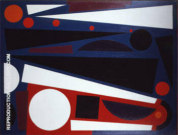 Vent 2 1954 Painting By Auguste Herbin - Reproduction Gallery