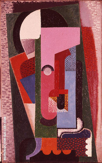 Untitled 1918 By Auguste Herbin