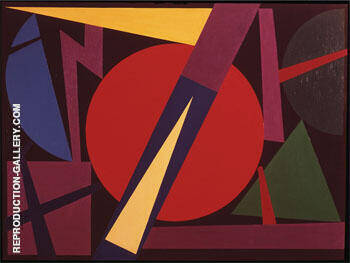Tempete 1953 Painting By Auguste Herbin - Reproduction Gallery