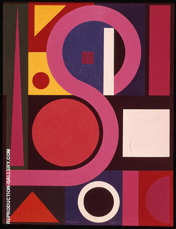 A No 2 1955 By Auguste Herbin