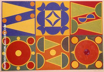 Untitled 1946 By Auguste Herbin