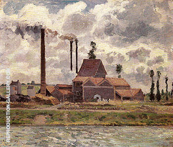 Reproduction of Factory near Pontoise 1873 by Camille Pissarro | Oil Painting Replica On CanvasReproduction Gallery