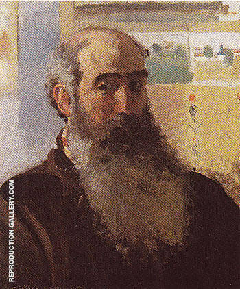 Self Portrait 1873 By Camille Pissarro - Oil Paintings & Art Reproductions - Reproduction Gallery