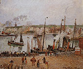 Port of Dieppe Rainy Morning 1902 By Camille Pissarro