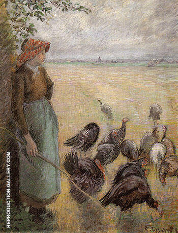 Turkey Girl 1884 By Camille Pissarro