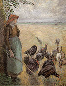 Turkey Girl 1884 By Camille Pissarro