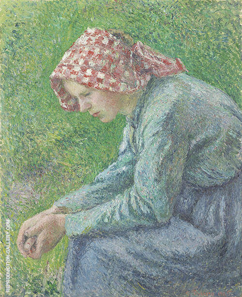 Seated Peasant Woman 1885 By Camille Pissarro