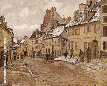 Pontoise The Road to Gisors in Winter 1873 By Camille Pissarro