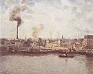 Quai Saint Sever a Rouen 1896 By Camille Pissarro