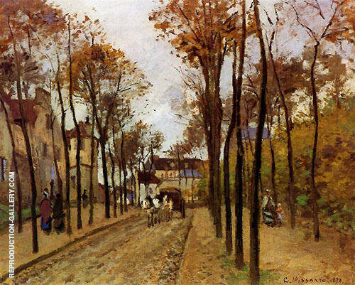 The Boulevard Des Fosses Pontoise 1872 By Camille Pissarro Replica Paintings on Canvas - Reproduction Gallery