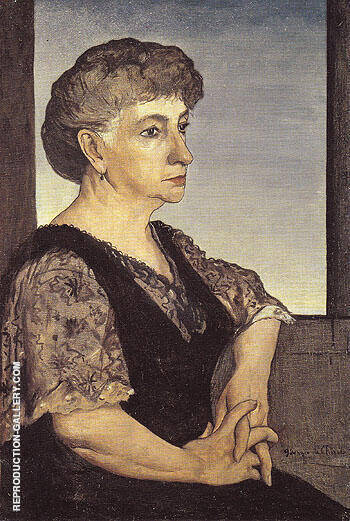 Reproduction of Portrait of The Artists Mother 1911 by Giorgio de Chirico | Oil Painting Replica On CanvasReproduction Gallery