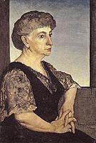 Portrait of The Artists Mother 1911 By Giorgio de Chirico