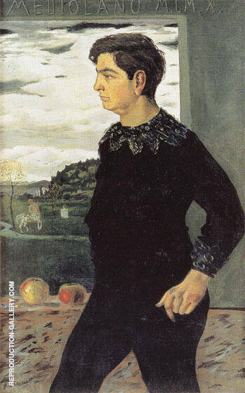 Portrait of the Artists Brother 1910 By Giorgio de Chirico - Oil Paintings & Art Reproductions - Reproduction Gallery