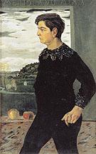 Portrait of the Artists Brother 1910 By Giorgio de Chirico