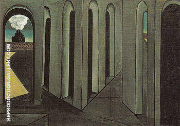 The Anxious Journey 1913 By Giorgio de Chirico - Oil Paintings & Art Reproductions - Reproduction Gallery