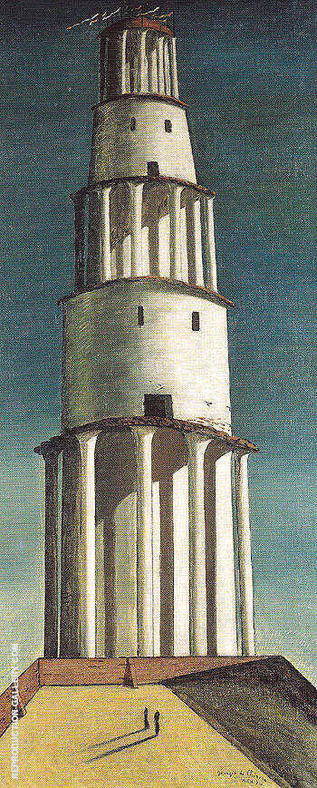 The Great Tower 1913 Painting By Giorgio de Chirico - Reproduction Gallery