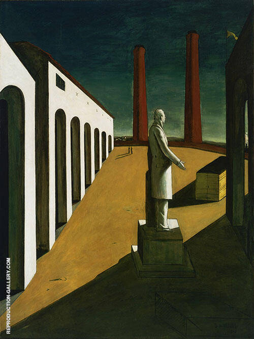 The Enigma of a Day I 1914 By Giorgio de Chirico Replica Paintings on Canvas - Reproduction Gallery