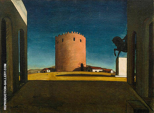 Reproduction of The Red Tower 1913 by Giorgio de Chirico | Oil Painting Replica On CanvasReproduction Gallery