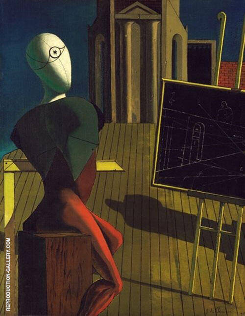 The Seer 1915 Painting By Giorgio de Chirico - Reproduction Gallery