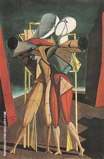 Hector and Andromache 1917 By Giorgio de Chirico