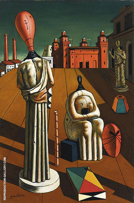 The Disquieting Muses 1918 By Giorgio de Chirico