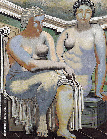 Reproduction of Two Seated Nude 1926 by Giorgio de Chirico | Oil Painting Replica On CanvasReproduction Gallery