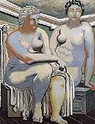 Two Seated Nude 1926 By Giorgio de Chirico