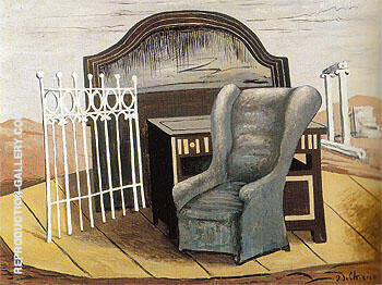 Furniture in The Valley 1927 By Giorgio de Chirico