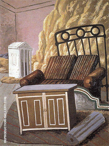 Furniture in a Room 1927 By Giorgio de Chirico