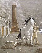 On The Shores of Thessaly 1926 By Giorgio de Chirico
