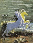 Two Horses by the Sea 1926 By Giorgio de Chirico