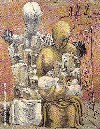 The Painters Family 1926 By Giorgio de Chirico Replica Paintings on Canvas - Reproduction Gallery