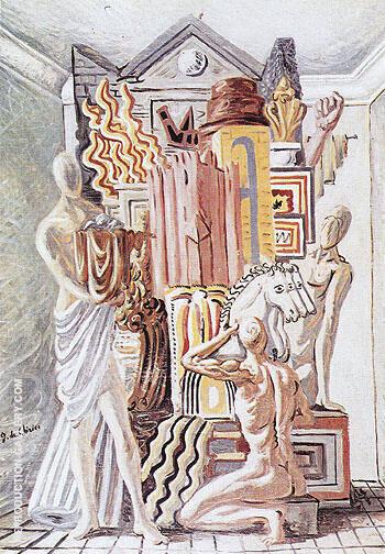 Constructors of Trophies 1928 By Giorgio de Chirico