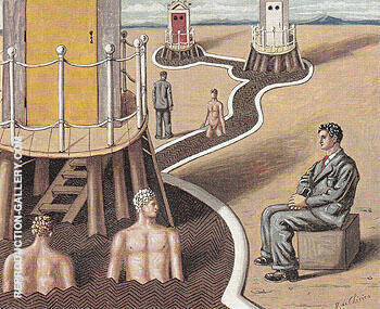 The Mysterious Baths II 1936 By Giorgio de Chirico Replica Paintings on Canvas - Reproduction Gallery