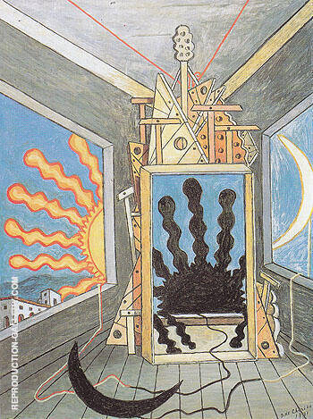 Metaphysical Interior with Extinguished Sun 1971 Painting By ...