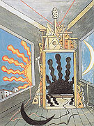 Metaphysical Interior with Extinguished Sun 1971 By Giorgio de Chirico