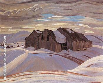 Barns c1926 By A Y Jackson
