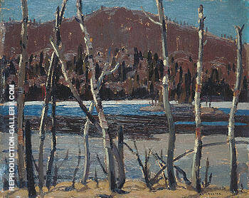 Reproduction of A Beaver Lake 1921 by A Y Jackson | Oil Painting Replica On CanvasReproduction Gallery