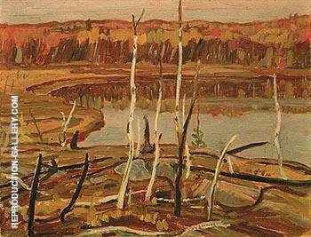 Reproduction of A Lake Autumn Georgian Bay 1936 by A Y Jackson | Oil Painting Replica On CanvasReproduction Gallery