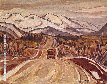 Alaska Hightway between Watson Lake and Nelson 1943 By A Y Jackson Replica Paintings on Canvas - Reproduction Gallery