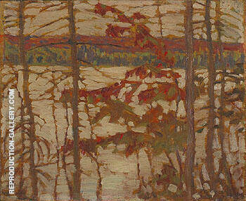 A North Country Lake Algonquin Park 1914 By A Y Jackson - Oil Paintings & Art Reproductions - Reproduction Gallery