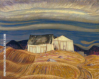 A Quebec Farm 1928 By A Y Jackson Replica Paintings on Canvas - Reproduction Gallery