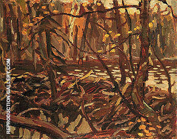 Beaver Dam Hubert 1919 By A Y Jackson - Oil Paintings & Art Reproductions - Reproduction Gallery