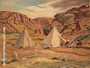 Camp in Country 1950 By A Y Jackson - Oil Paintings & Art Reproductions - Reproduction Gallery