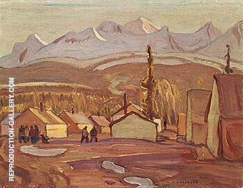 Camp Mile 108 West of Whitehorse 1943 Painting By A Y Jackson