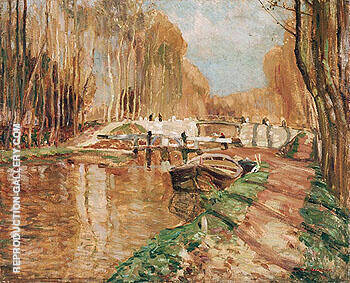 Reproduction of Canal du Loing near Episy 1909 by A Y Jackson | Oil Painting Replica On CanvasReproduction Gallery